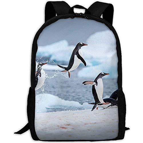 Mochila Escolar,Los Pingüinos Juegan En Islandia
