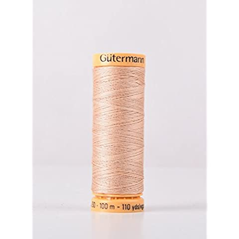 Gutermann cotone naturale 100m Quilting macchina da cucire per cucire rosa–1427 - Naturale Di Cotone Per Cucire