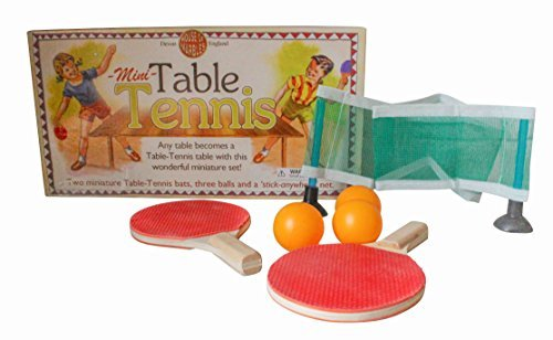 House of Marbles Miniature Table Tennis Ping Pong Set for Kids - Paddle, Ball and Net by House of Marbles