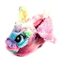 Rainbow Unicorn Kids 3D Slippers Childrens Soft Plush Comfy Warm Slip Ons (9 UK Child)