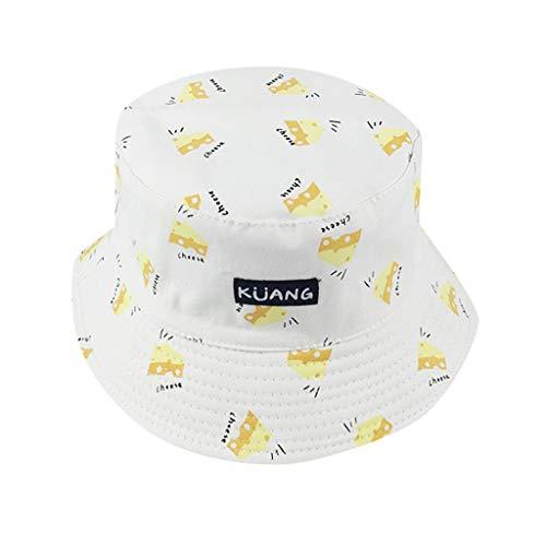 QinMM Fischerhut Sun Hat UV-Schutz Outdoor Bucket Hat für Outdoor Angeln Camping Radfahren Banane Drucken