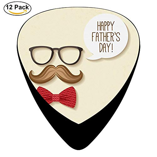 Bow Tie Moustache Celluloid Electric Guitar Picks 12-pack Plectrums For Bass Music Tool
