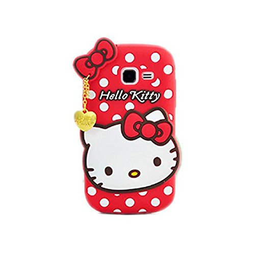 Go Crazzy Cute Hello Kitty Soft Silicone Case, 3D Cartoon Polka Dots Hello Kitty Silicon Gel Rubber Case Cover Skin for Samsung Galaxy Star Pro Duos GT-S7262 / S7260  available at amazon for Rs.499