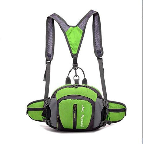 BUSL Outdoor-Sport Herren Multifunktions-Taschen NYLON wasserdicht Sport Green