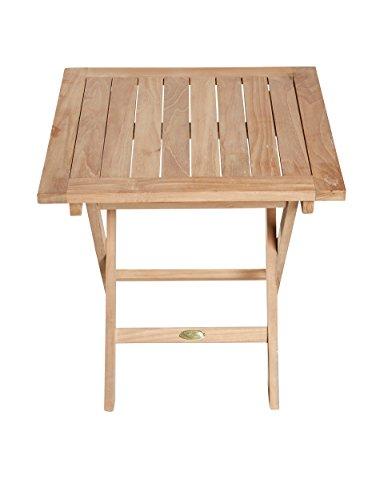 Riva Beistelltisch Klapptisch braun Echtholz Teak Gartentisch Holztisch