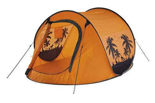 Crivit Wurfzelt, Auspacken udn wrefen - Zelt springt von alleine auf Orange