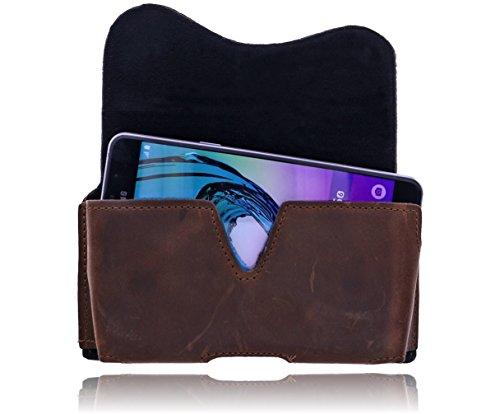 Burkley - Vintage Design - Slim Leder Handyhülle für Apple iPhone 6 Plus / 6S Plus (5.5 Zoll) Gürteltasche | Schutzhülle | Handytasche | Vertikal-Tasche | Holster | Case | Cover | Hülle mit Gürtel-Sch kaffee braun / coffee brown