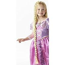 Trenza Rapunzel Disney Postizo trenzado para pegar Trenza postiza de princesa coleta rapunzel larga Peluca cuento de hadas Pelo falso para chicas