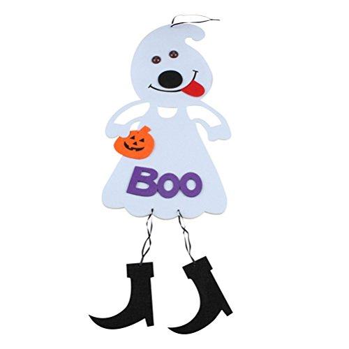 BESTOYARD Halloween Scary Dekoration vlies Hängen Kürbis Puppen Party Supplies (weiß)