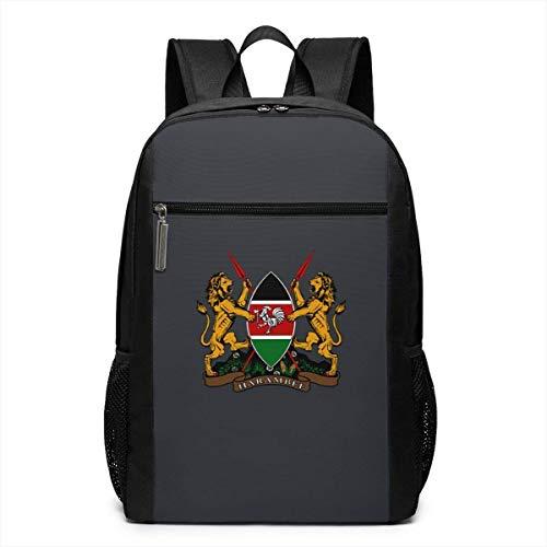 Oh Yep Wappen von Kenia Rucksack 17-Zoll-Laptop-Taschen School Bookbag -
