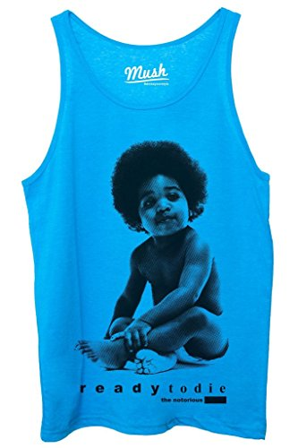 Canotta NOTORIOUS BIG PRONTO A MORIRE - MUSIC by MUSH Dress Your Style - Uomo-S Blu Royal