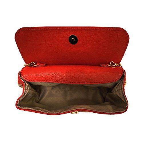 POCHETTE CON TRACOLLA REMOVIBILE(6145) Rosso