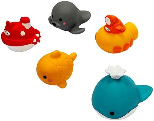 Creative bébé Guppy & Friends 5 pièces de bain Arroseur flottant