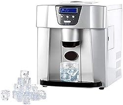 Rosenstein & Söhne Eiswürfelbereiter: Eiswürfelmaschine EWS-2100 mit Eiswürfelspender (Ice Maker)