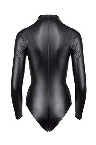 Noir Handmade Damen Body im Wetlook Schwarz