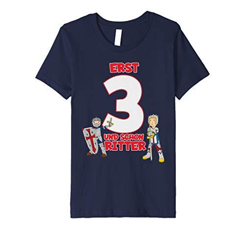 Kinder T-Shirt Geburtstag 3 Jahre Junge Ritter Motiv ()