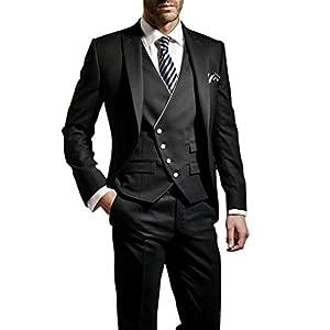 Suit Me – Traje de 3 piezas para hombre, corte ajustado, para bodas, fiestas, smoking, traje, chaleco, pantalones