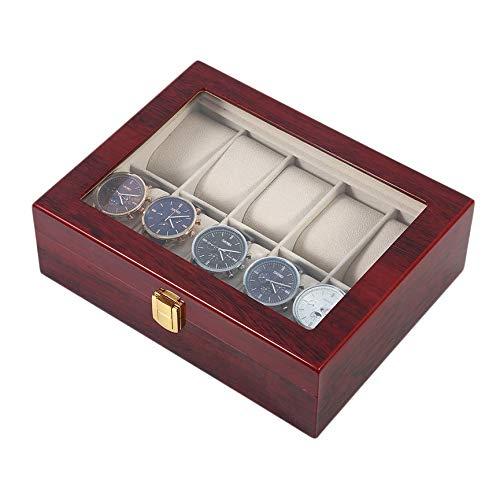 Solar Electric Generator (Peanutaoc 10 Grids Uhrenbox, Holzuhr Schmuck Display Collection Aufbewahrungsbox Organizer Box mit Kissenhalter, für Uhren und Schmuck)