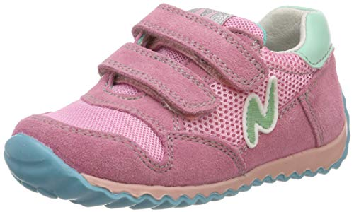 Naturino Sammy.-Sneaker aus Leder und Netz-Rosa/Hellblau Rosa 32
