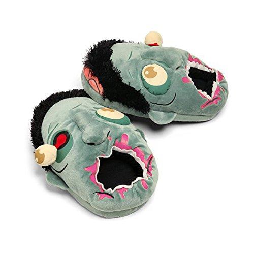 WINOMO 1Paar von Zombie Plüsch Hausschuhe Schuhe - Blau - Freie (Zombie Schutz)