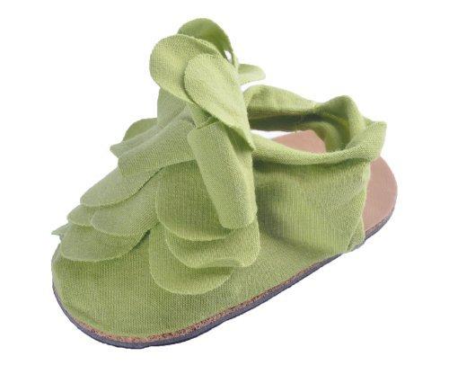 coton bébé Fille Doux Berceau, Poussette Chaussures, Pre-marche chaussures, Stylé Détail Fleur Vert