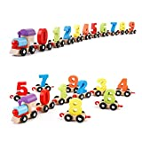 Party Propz Wooden Toys for Toddlers and Kids, Educational Toys (1-12 No. Train)