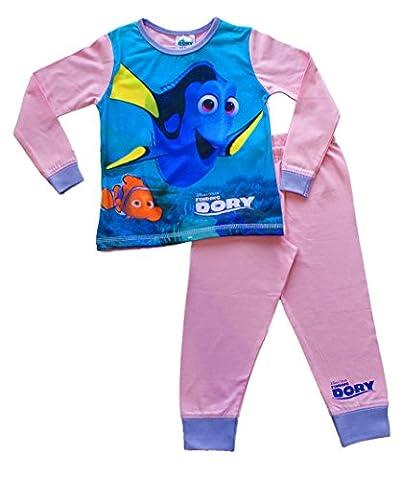 Girls Disney Pixar Finding Dory Long Pyjamas Pjs 2 3 4 5 Years Girls Pink W16 (2-3 Years)