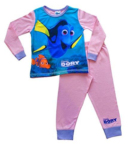 Girls Disney Pixar Finding Dory Long Pyjamas PJS 2 3 4 5 Years Girls Pink W16