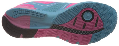 Reebok One Lite Femme Running Baskets / Sneakers, Rose Pink/Blue/Black/White
