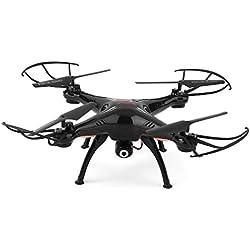Syma - X5SW-1 Explorers, Drone con cámara, (FPV,RTF RC Cuadricóptero, WiFi Cámara interna, 2.4GHz, 4 Canales, 6 Axis) (Negro)