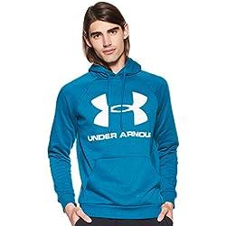 Under Armour Rival Fleece Sportstyle Logo Sudadera, Hombre, Verde, MD