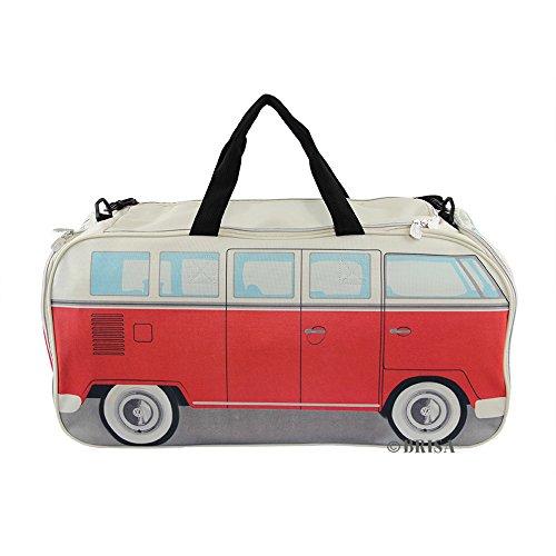 VW Collection by BRISA Sport, Borsa da viaggio, colore: rosso