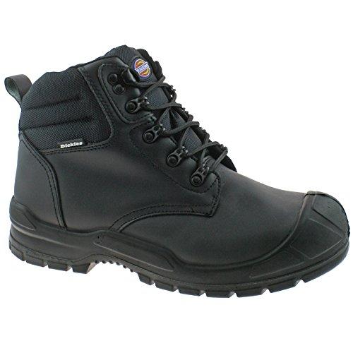 Dickies FA9007 BK 7 Trenton Sicherheitsstiefel, Leder, 7 Größen, schwarz -