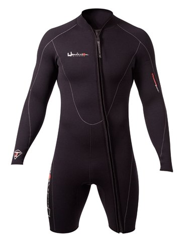 Henderson Man Thermoprene Long Sleeve 3mm Shorty / Jacket (Front Zip) Scuba Diving Wetsuit-Large -