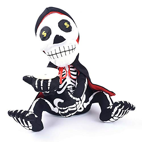 Singen Skelett Prop - SOOKi Halloween-Dekorationen Indoor, Skeleton Spielzeug Halloween-Party-Dekoration,