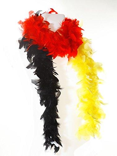 ederboa Deutschland | Fanartikel | Public Viewing | Federschal | Fußball WM | Federstola | Weltmeisterschaft | Fan Zubehör | Geschenk für Frauen | Kostüm (Kostüm Luftballon Lieferung)