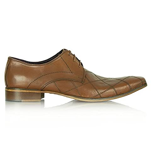 Daniel Cuir Tan Gucinari Jay Jay 258 Diamond Point Lacets Chaussures 10 Tan Leather