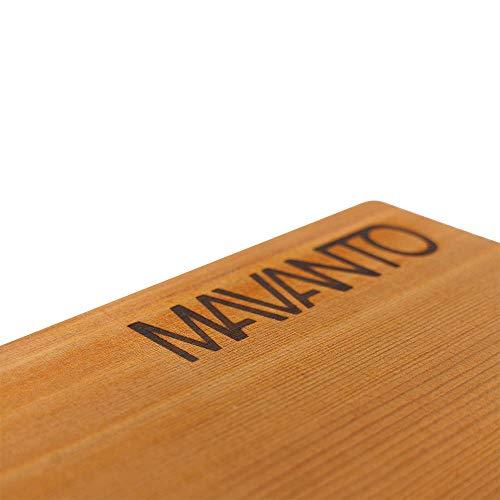 41aFhaLg8VL - MAVANTO® XXL Grillbretter Räucherbretter - Kanadisches Zedernholzbrett zum Grillen - EXTRA DICK (30x14x1,5cm) langlebig & wiederverwendbar (2er Set)