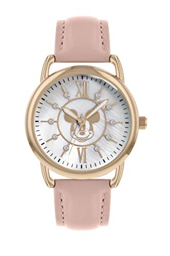 Mickey Mouse Reloj Análogo clásico para Unisex Adultos de Cuarzo con Correa en PU MK5055