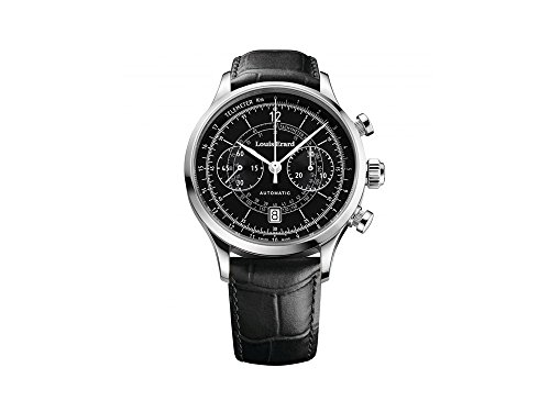 Louis Erard 1931 Automatik Uhr, Tachymeter, Schwarz, Leder, 71245AA02.BDC02