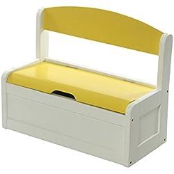 Niños Banco de madera / Juguetes caja amarilla por Primero la seguridad del bebé