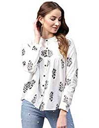 Amayra Women's Cotton Straight Top (White)