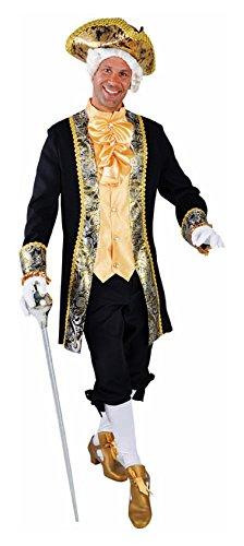 M214259-L schwarz-gold Herren Rokoko Barock Kostüm Marquis Graf Lord Gr.L