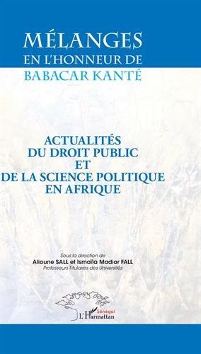 Mélanges en l'honneur de Babacar Kanté