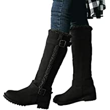 Viernes Negro JiaMeng Botas de Invierno cálidas para la Nieve Botas de caña Alta de Invierno