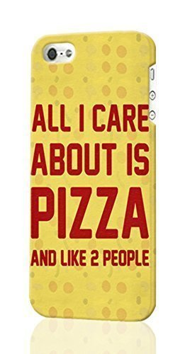 All I Care About Is Pizza Pattern Image - Protective 3d Rough - Hard Plastic 3D Case - For SamSung Galaxy Note 3 Phone Case Cover