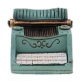 KESOTO 1/12 Miniature Machine à écrire Jouet Interactif Décor Chambre Bureau Salon...