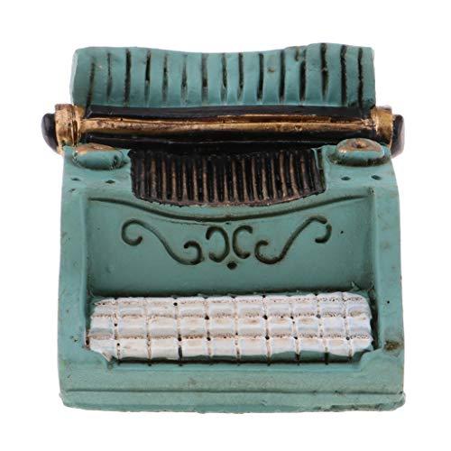 KESOTO 1/12 Miniature Machine à écrire Jouet Interactif Décor Chambre Bureau Salon Dollhouse Vert