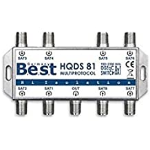 Interruptor DiSEqC 8x 1Best Germany HD 3d Switch TV SAT LNB 8entradas 1salida