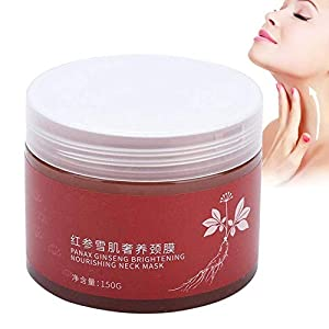 Máscara de cuello de ginseng rojo reafirmante, hidratante aligerar fina, líneas de crema para el esencias del cuello…